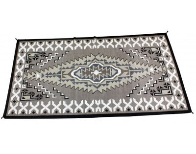 Load image into Gallery viewer, Jean Tsosie, Two Grey Hills Rug, Large, Navajo Handwoven, 120 in x 63 in