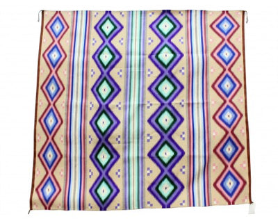 "Load image into Gallery viewer, Linda Chee, Wide Ruins Rug, Navajo Handwoven, 71 1/2"" x 63 1/2"""