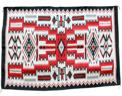 "Load image into Gallery viewer, Angela Williams, Storm Pattern, Navajo Handwoven, 88"" x 56"""
