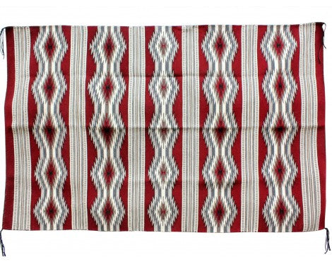Donald Wood, Eye Dazzler Rug, Navajo Handwoven, 46