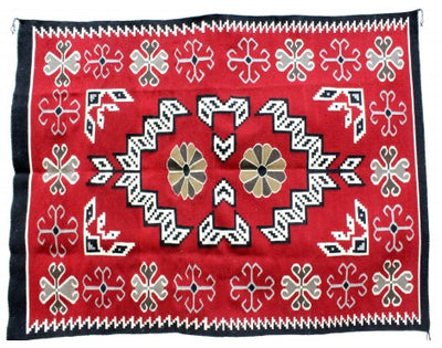 "Load image into Gallery viewer, Mary Lee, Ganado Red, Navajo Handwoven, 58 1/2"" x 81"""