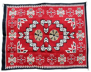 "Mary Lee, Ganado Red, Navajo Handwoven, 58 1/2"" x 81"""