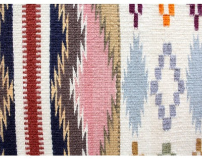 "Load image into Gallery viewer, Susie Smallcanyon, Colorful Wide Ruins, Navajo Handwoven Rug, 61"" x 48"""