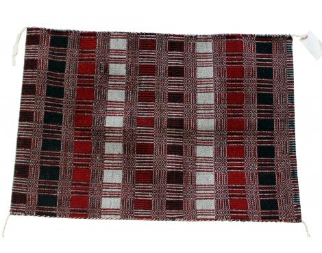 Virgina Snyder, Saddle Blanket, Two Faced, Navajo Handwoven, 29 in x 41 in