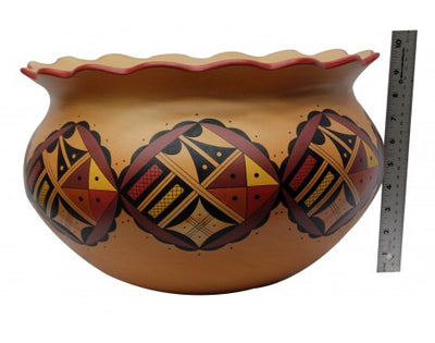 Load image into Gallery viewer, Stetson Setalla, Hopi Hand Coiled Pottery, 9.75 in x 15.75 in