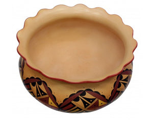 Stetson Setalla, Hopi Hand Coiled Pottery, 9.75 in x 15.75 in