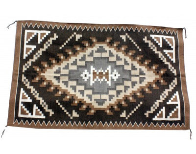 Load image into Gallery viewer, Charlene Begay, Two Gery Hills Rug, Navajo Handwoven, 38 in x 61 in