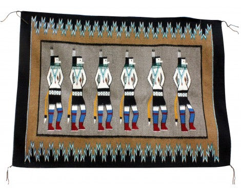 Anna Gray, Yei Rug, Navajo Handwoven, 47.5 in x 35 in