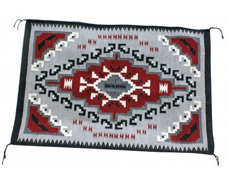 Alberta Shorty, Ganado Red Rug, Navajo Handwoven, 29 in x 43 in