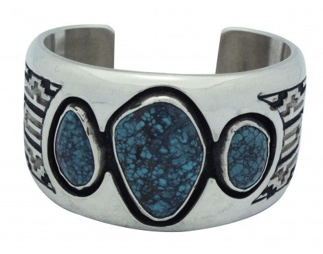 Dan Jackson, Bracelet, Blue Ridge Turquoise, Shadow Box, Navajo Handmade, 6.25in