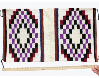 "Load image into Gallery viewer, Gallup Throw Rug, Navajo Wool Cotton, Handwoven, 18"" x 37"""