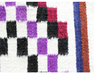 "Gallup Throw Rug, Navajo Wool Cotton, Handwoven, 18"" x 37"""