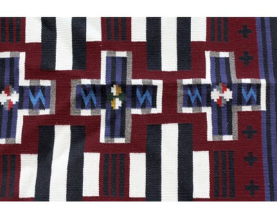 Load image into Gallery viewer, Elise VanWinkle, Chief Pattern, Navajo Handwoven, 22.5 in x 20.5 in
