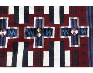 Elise VanWinkle, Chief Pattern, Navajo Handwoven, 22.5 in x 20.5 in