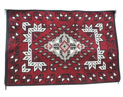 Lolita Williams, Ganado Red Rug, Navajo Handwoven, 78 in x 52 in