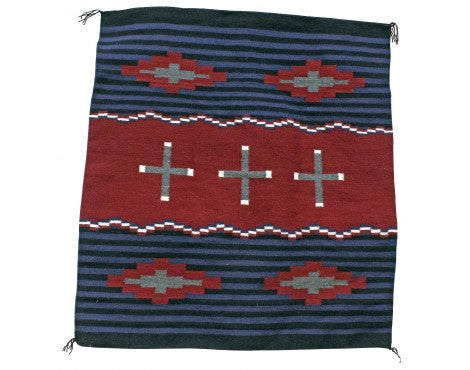 Janet Begay, Cheif Rug, Navajo Handwoven, 40 in x 41 in