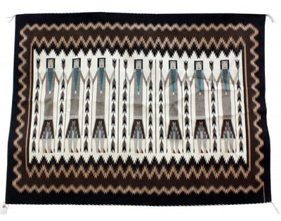 Load image into Gallery viewer, Margie Cleveland, Yei Rug, Navajo Handwoven, 41 in x 55 in