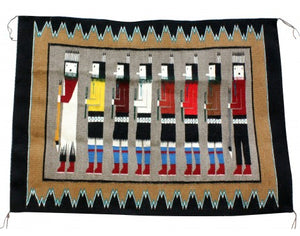 Annie Grey, Yei Rug, Navajo Handwoven, 35 in x 48 in