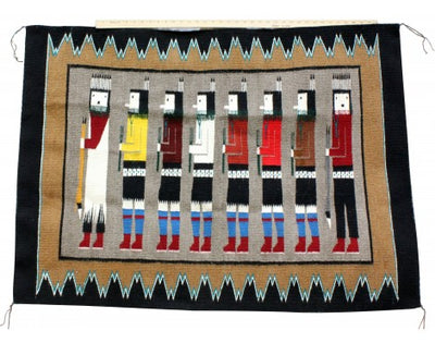 Load image into Gallery viewer, Annie Grey, Yei Rug, Navajo Handwoven, 35 in x 48 in