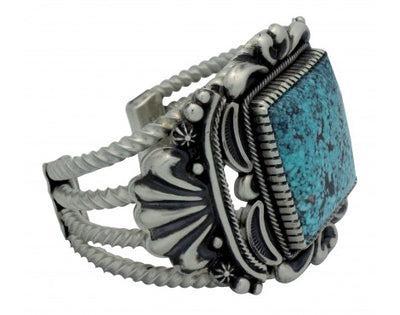 Load image into Gallery viewer, Stacey Gishal, Bracelet, Kingman Turquoise, Sterling Silver, Navajo Handmade,6.5