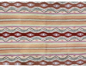 "Anna Clyde, Wide Ruins Rug, Navajo Handwoven, 31"" x 47"""