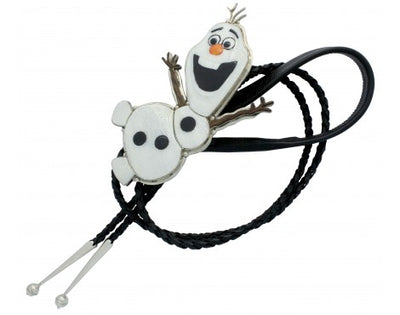 Load image into Gallery viewer, Virgil, Shirley Benn, Bolo Tie, Snowman, Olaf, Inlay, Multi Stone, Handmade, 25