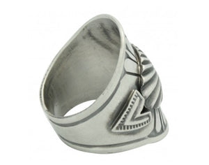 Derrick Gordon, Ring, Silver Applique, Oval Cutout, Navajo Handmade, 8