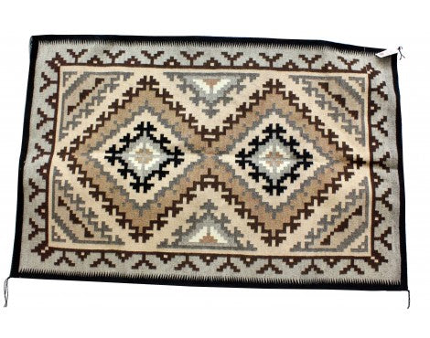 Maggie Elthel, Two Grey Hills Rug, Navajo Handwoven, 48 in x 74 in