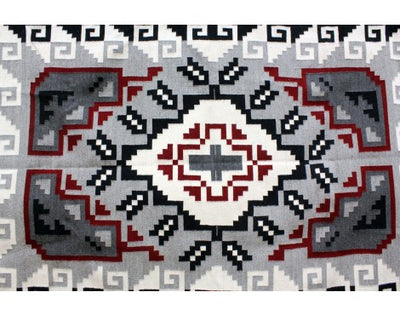 Load image into Gallery viewer, Charlene Begay, Ganado Red Rug, Navajo Handwoven, 47 in x 76 in