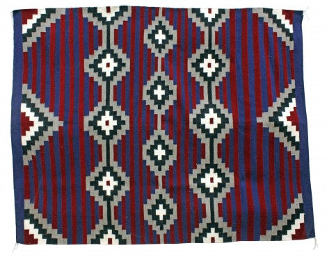 Zonnie Deschine, Navajo Chief Rug, Handwoven, 58.5 in x 73.5 in