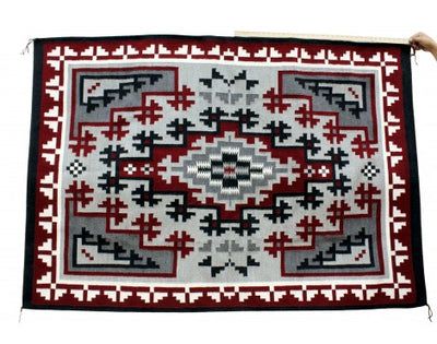 Load image into Gallery viewer, Charlene Begay, Ganado Red Rug, Navajo Handwoven, 52 in x 76 in