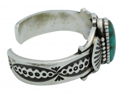 Load image into Gallery viewer, Leon Martinez, Bracelet, Carico Lake Turquoise, Sterling Silver,Navajo Made,6.25