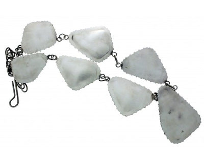 Load image into Gallery viewer, Anthony Skeets, Necklace, Lapis, Spiny Oyster Shell, Silver, Navajo Made, 31 in