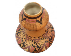 Stetson Setalla, Hopi Hand Coiled Large Pottery, 17 in x 13.25