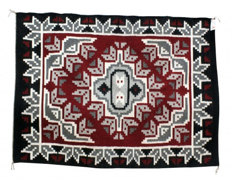 Laura Nez, Ganado Red Rug, Navajo Handwoven, 60 in x 45 in