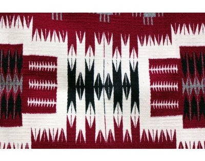 Load image into Gallery viewer, Brenda Willson, Red Storm Pattern Rug, Navajo Handwoven, 61 in x 36 in