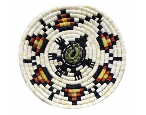Rhetta Lou Adams, Hopi Coil Plaque, Maiden, 13 in