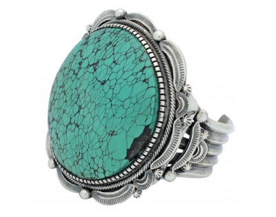 Load image into Gallery viewer, Hank Vandever, Bracelet, Chinese Turquoise, Sterling Silver, Navajo Handmade,6.5
