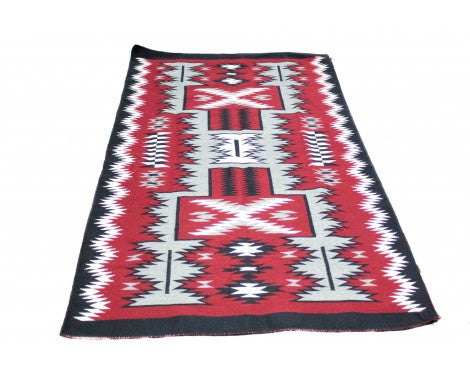 Angela Williams, Storm Pattern Rug, Contemporary, Navajo Wool Rug, 48