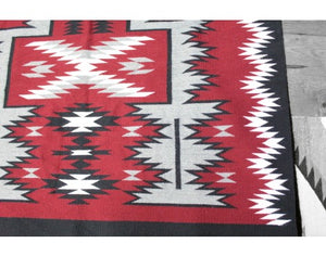 "Angela Williams, Storm Pattern Rug, Contemporary, Navajo Wool Rug, 48"" x 80"""