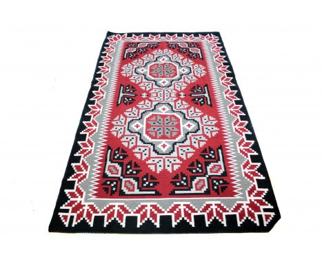 Maggie Ethel, Ganado Red Rug, Navajo Wool, Contemporary, 63