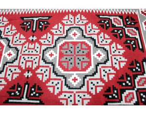 "Maggie Ethel, Ganado Red Rug, Navajo Wool, Contemporary, 63"" x 112"""