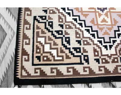 "Load image into Gallery viewer, Maggie Ethel, Two Grey Hills Rug, Navajo Wool, Contemporary, 118"" x 69"""