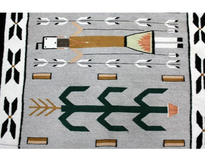 "Load image into Gallery viewer, Mary Jim, Yei Rug with Cornstalk, Navajo Wool, Contemporary, 61"" x 38.5"""