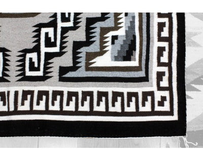 Load image into Gallery viewer, Loraine McDonald, Two Grey Hills Rug, Navajo Wool, Contemporary, 76 x 44