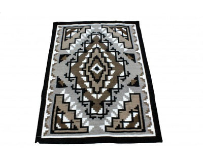 "Load image into Gallery viewer, Marc Nathaniel, Two Grey Hills Rug, Navajo Wool, Contempoary, 52 1/2"" x 38 1/2"""