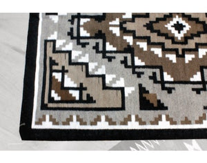 "Marc Nathaniel, Two Grey Hills Rug, Navajo Wool, Contempoary, 52 1/2"" x 38 1/2"""