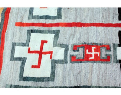 Load image into Gallery viewer, J. B. Moore Style Rug Navajo Wool, Circa 1900, Transitional, 104 x 92
