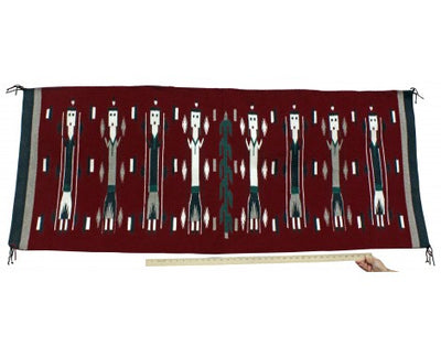 Load image into Gallery viewer, Yazzie, Yei Rug, Navajo Handwoven, 28 in x 68 in