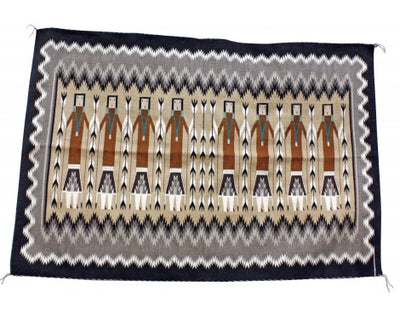 Load image into Gallery viewer, Margie Harvey, Yei Rug, Navajo Handwoven, 55 in x 35 in